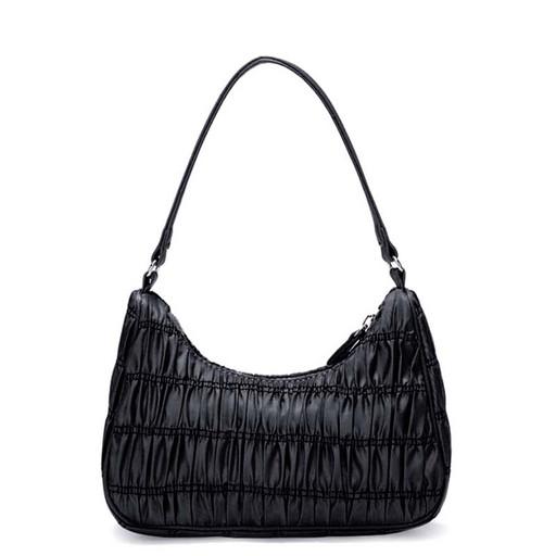 купить, черная, женская, сумка, полиэстер, гофрированная, интернет магазин
