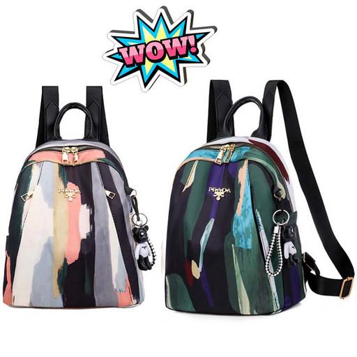 Женский разноцветный рюкзак - красочный