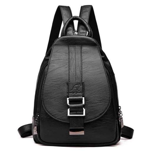 Женский городской рюкзак: черный, синий, бордо, бронзовый