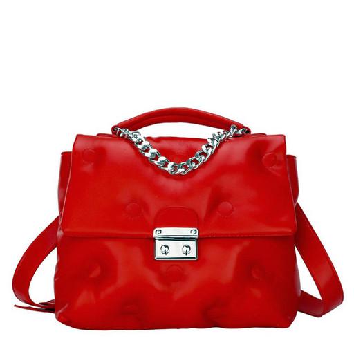 Женская сумка с клапаном через плечо - дутая