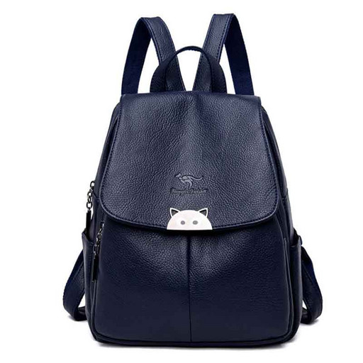 Женский городской рюкзак: черный, синий, красный - с изюминкой