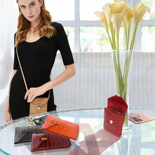 Кожаная сумка-чехол для телефона Iphone 11 Pro Max и мелочей
