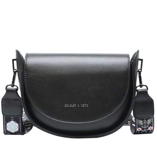 Женская сумка седло на молнии-полукруглая форма