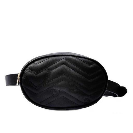Женская маленькая сумка на пояс - овальная