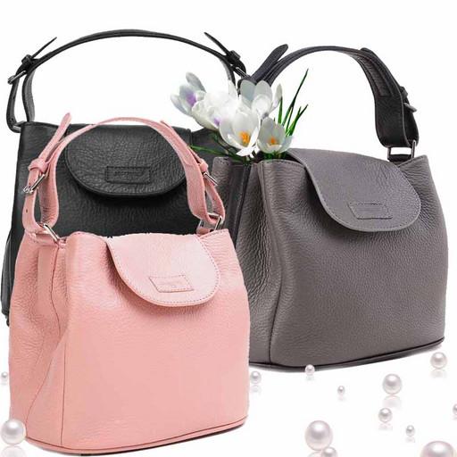 Женская, маленькая сумка из мягкой кожи премиум - много отделений