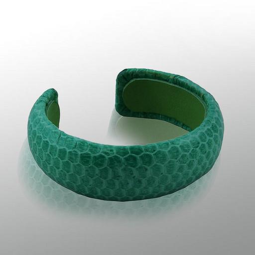 Женский браслет кожаный из морской змеи