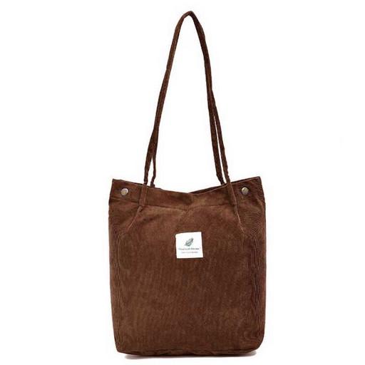 Женская вельветовая сумка-Шоппер