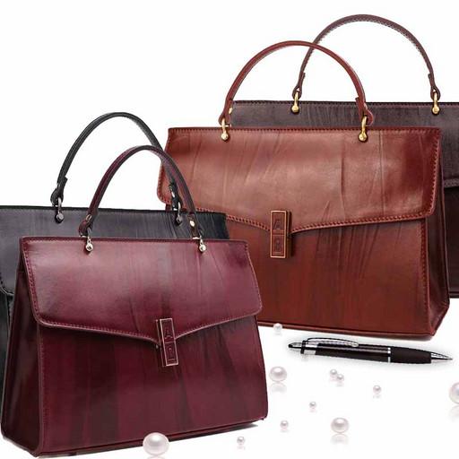 Женская сумка - маленький портфель из натуральной гладкой кожи Краст