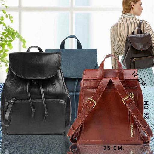 Классический женский рюкзак из натуральной гладкой кожи - PREMIUM