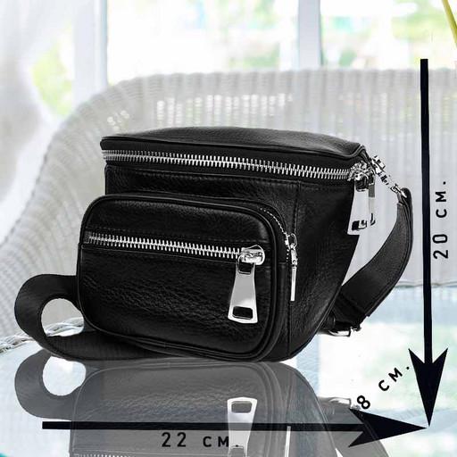 Маленькая сумка из мягкой телячьей кожи через плечо  - Premium