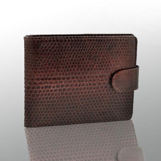 Кожаное портмоне - Бифолд из кожи морской змеи