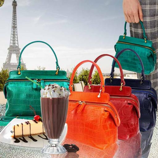 Женская мини сумка-клатч из натуральной кожи PREMIUM
