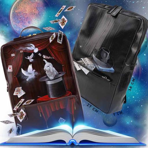 Кожаный рюкзак мужской - дизайнерская ручная роспись PREMIUM
