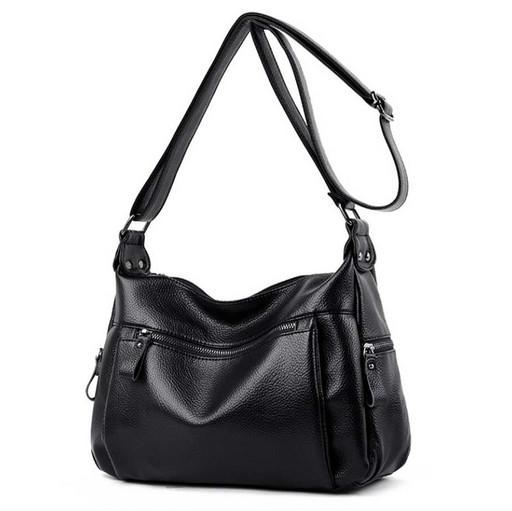 Повседневная женская сумка через плечо - удобные карманы снаружи