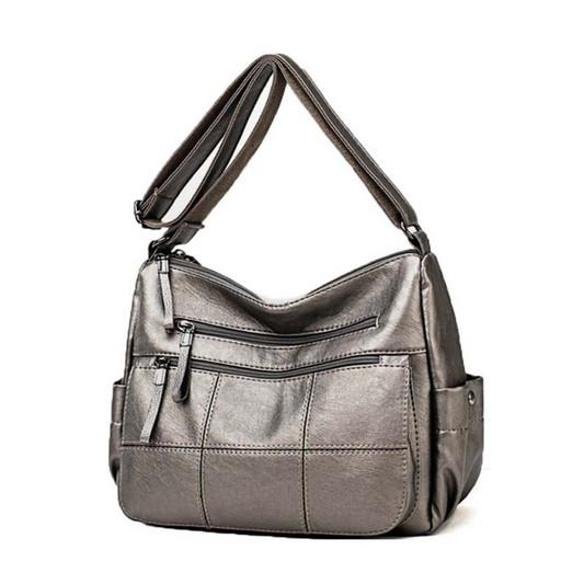 Женская сумка много карманов и отделений - повседневная