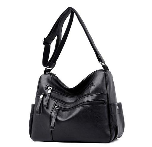 Женская сумка через плечо - много отделений и карманов