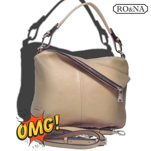 Итальянская кожаная сумка - много отделений