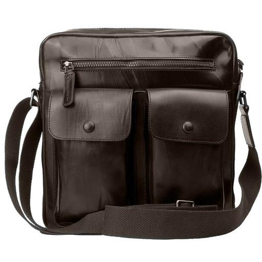 Кожаная мужская сумка планшет - премиум