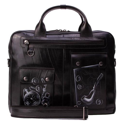 Сумка портфель из кожи - идея дизайнерского подарка