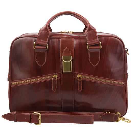 Мужской портфель из натуральной кожи - премиум