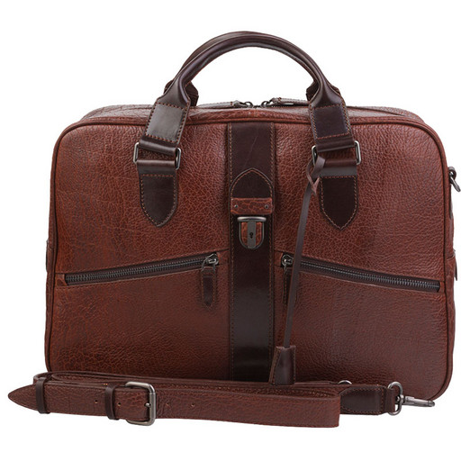 Мужская сумка - портфель из натуральной кожи бизона