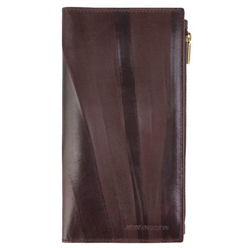 Вертикальное портмоне - Лонгер из гладкой кожи
