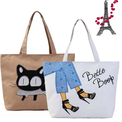 Повседневная сумка для девушки-Тоут из ткани