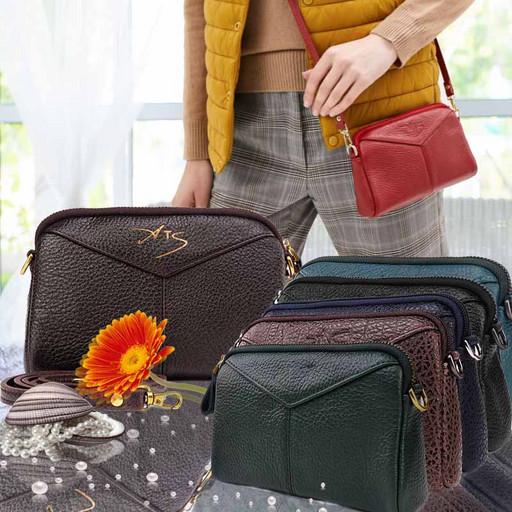 Женская маленькая сумка-клатч из мягкой кожи через плечо