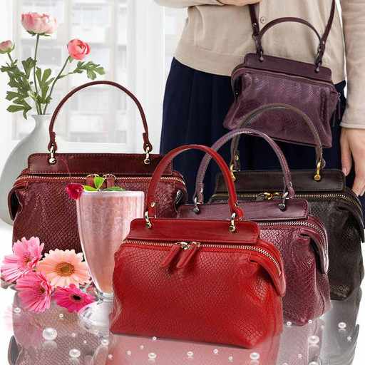 Женская сумка-малышка-клатч из кожи PREMIUM Piton