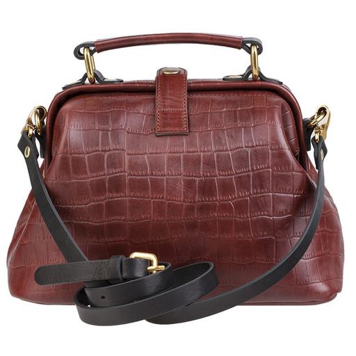 Женская сумка саквояж - кожа имитация крокодила