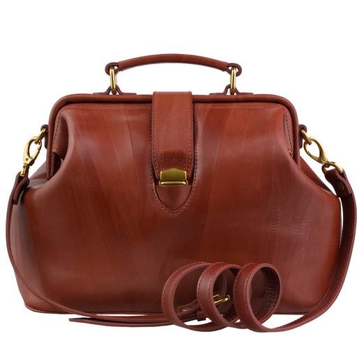 Женская сумка - стиль саквояж, через плечо
