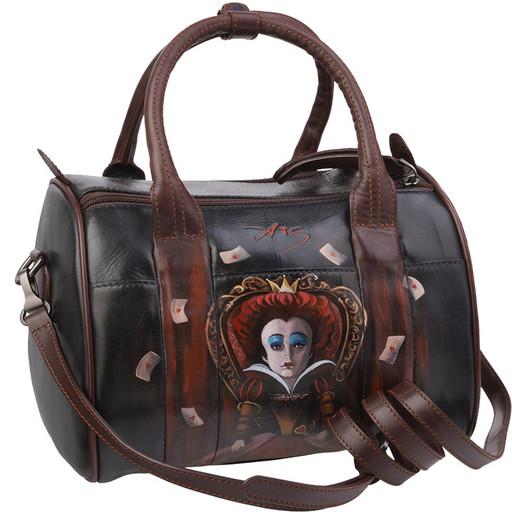 Кожаная сумка с ручной росписью - бочонок