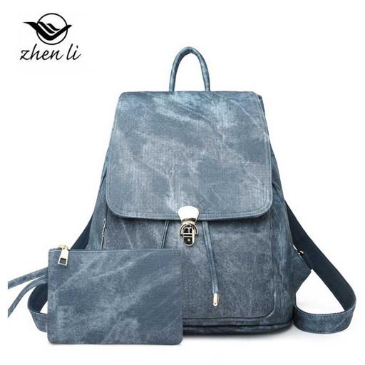 Женский рюкзак с трансформирующимися ремнями - мрамор