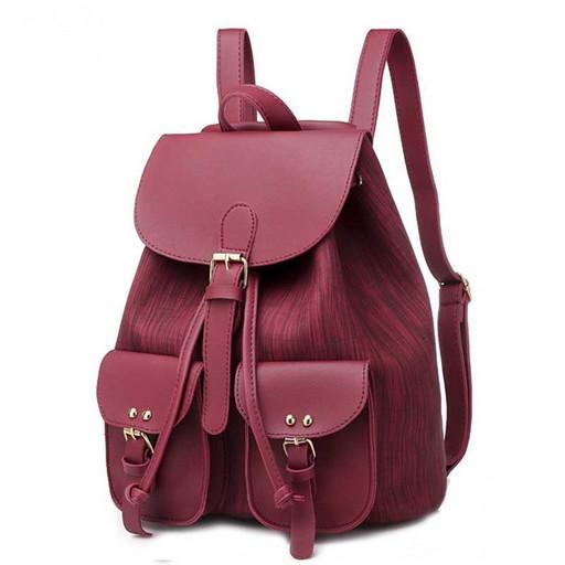 Женский рюкзак на кулиске - с 2 карманами
