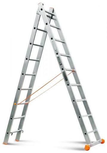 Двухсекционная лестница Классик 2х9 «Эйфель»