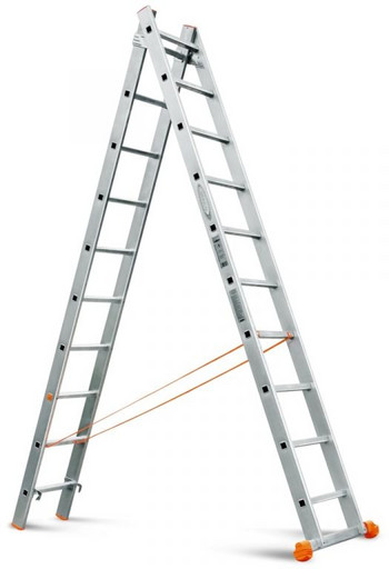 Двухсекционная лестница Классик 2х10 «Эйфель»