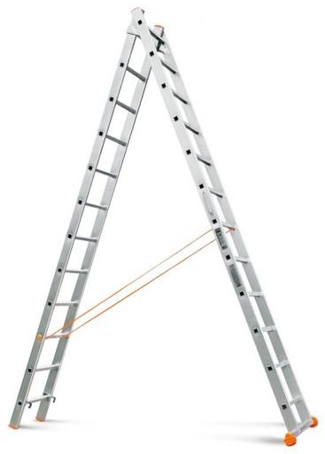 Двухсекционная лестница Классик 2х12 «Эйфель»