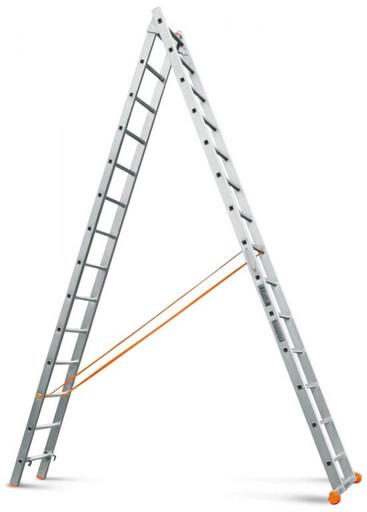 Двухсекционная лестница Классик 2х14 «Эйфель»