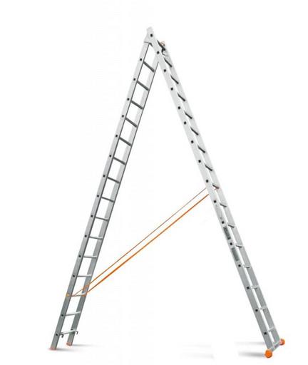 Двухсекционная лестница Классик 2х16 «Эйфель»