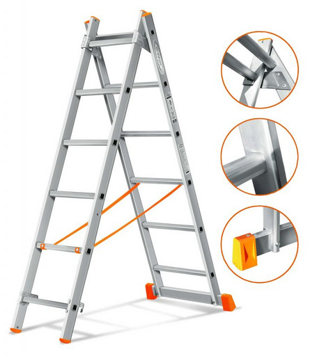 Двухсекционная лестница Гранит 2х6 «Эйфель»