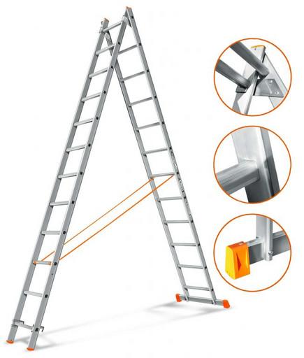 Двухсекционная лестница Гранит 2х12 «Эйфель»
