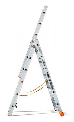 Трехсекционная лестница индустриального ресурса Классик 3х6 «Эйфель»