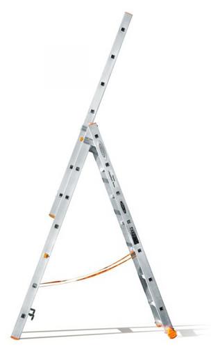 Трехсекционная лестница индустриального ресурса Классик 3х7 «Эйфель»