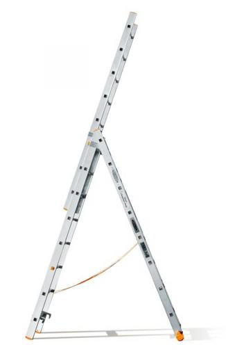 Трехсекционная лестница индустриального ресурса Классик 3х8 «Эйфель»