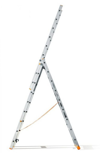 Трехсекционная лестница индустриального ресурса Классик 3х9 «Эйфель»