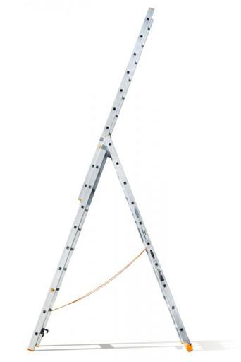 Трехсекционная лестница индустриального ресурса Классик 3х10 «Эйфель»