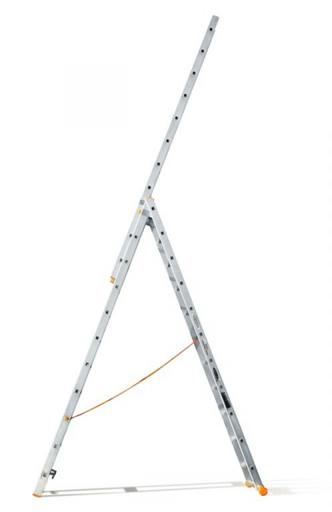 Трехсекционная лестница индустриального ресурса Классик 3х11 «Эйфель»