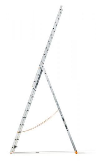 Трехсекционная лестница индустриального ресурса Классик 3х12 «Эйфель»