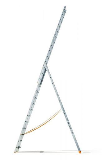Трехсекционная лестница индустриального ресурса Классик 3х14 «Эйфель»