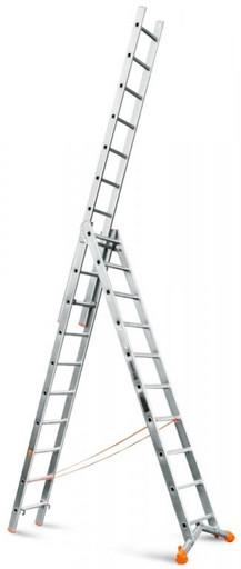 Лестница трехсекционная индустриального ресурса Ювелир 3х10 «Эйфель»